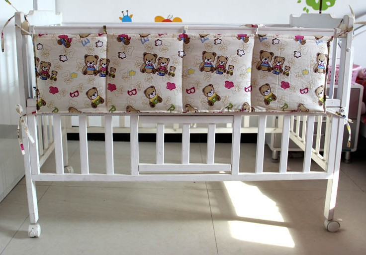 FREE SHIPPING filled with cotton baby bed diaper stackers nappy bag long size(China (Mainland))
