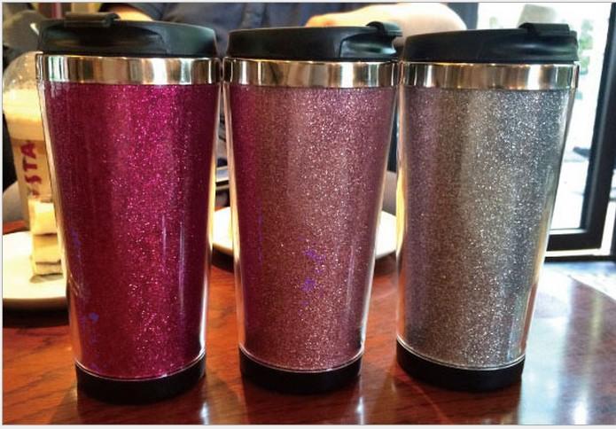 16oz double walled stainless steel acrylic mug stainless - Travel mug stainless steel interior ...
