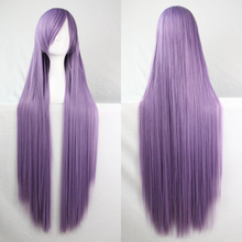 40″ 100cm Women's Hair Light Purple Long Straight Cosplay Wigs Synthetic Hair