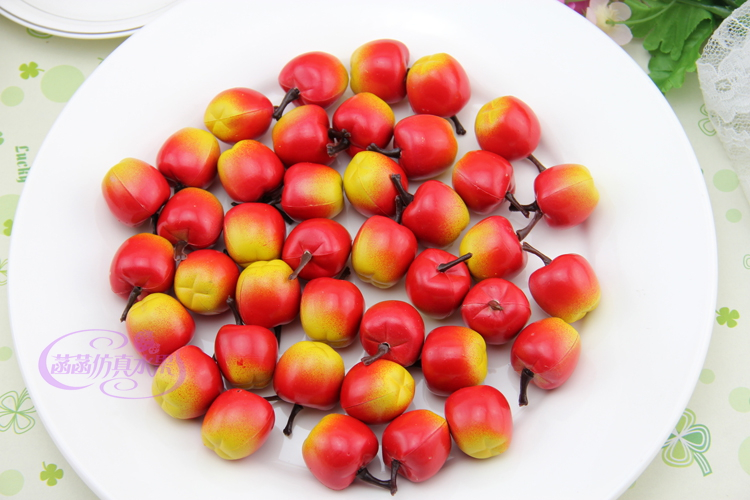 Hot Sale Simulation Plastic Mini Apples Fake Fruits Model Children Early Learning Photography Equipment Home Decoration PL(China (Mainland))