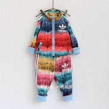 2015 long sleeve girls boutique clothing sets sport suit baby girl outfits autumn zipper jacket tops + pants kids tracksuit(China (Mainland))