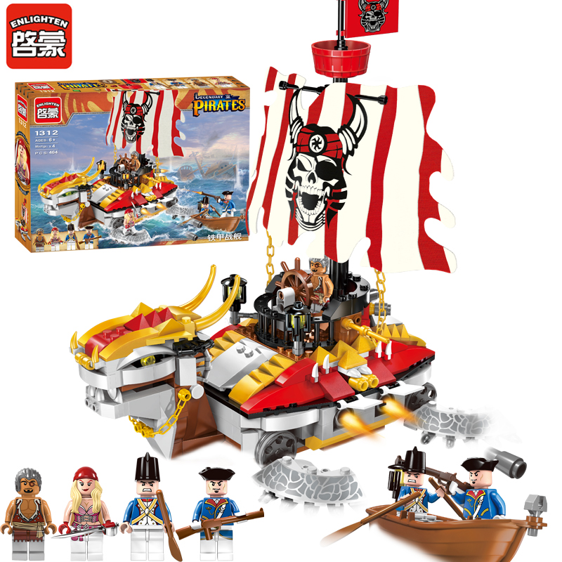 ENLIGHTEN 1312 Pirates of the Caribbean Armor Battleship Corsair Boat Assemble Model Building Blocks Minifigures Kids Toys Gift(China (Mainland))