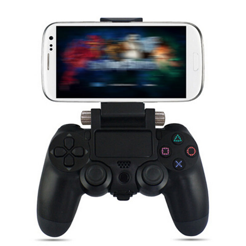 2016 Adjustable Mount Bracket Stand for Sony PS4 Gamepad Controller For Samsung LG Xiaomi Android Phones Clip Holder+OTG Cable(China (Mainland))