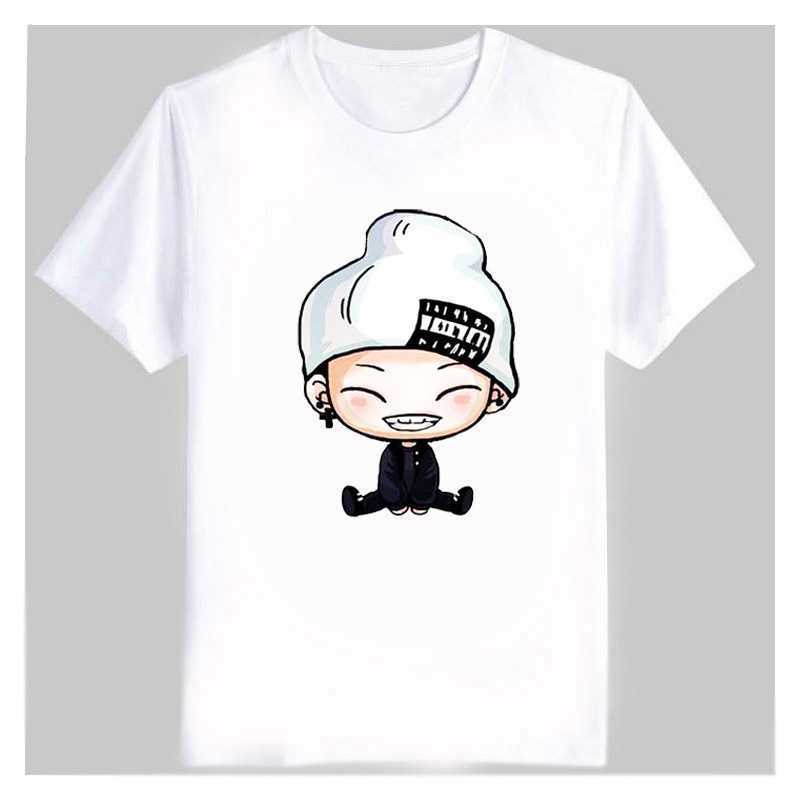 Men's Women's summer kpop t shirt ikon cute cartoon comic images print bobby B.I t shirt women plus size cotton t-shirt(China (Mainland))
