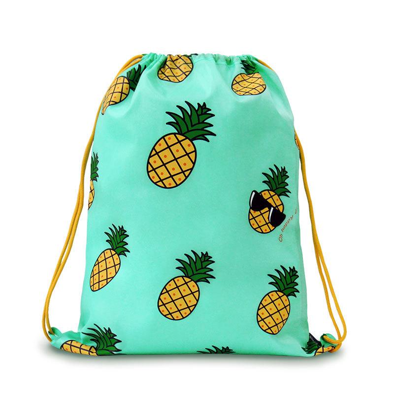 2015 U-PICK New Design Drawstring Backpack 100% Polyester 4 Color Pattern Drawstring Bag for Sport Camping Hiking Swiming(China (Mainland))
