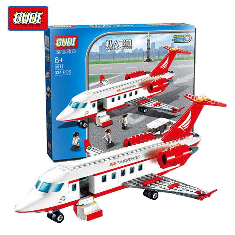 GUDI 334 pcs Airplane Toy Air Bus Model Airplane Building Blocks Sets Model DIY Bricks Boys Toys Kids Gift Compatible With Legoe(China (Mainland))