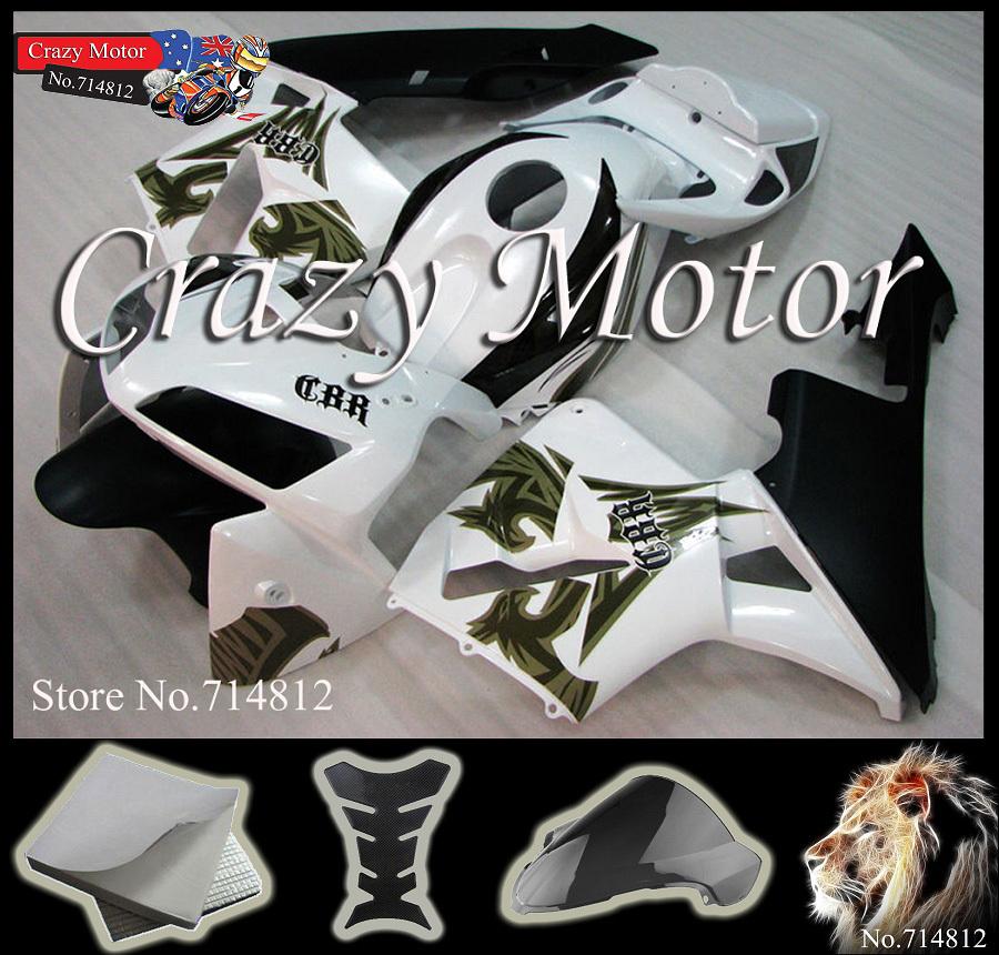 Honda CBR600RR 2005 2006 white black CBR-600RR F5 Injection Mold ABS Fairing Set Plastic Kit 37 - Crazy Motor store