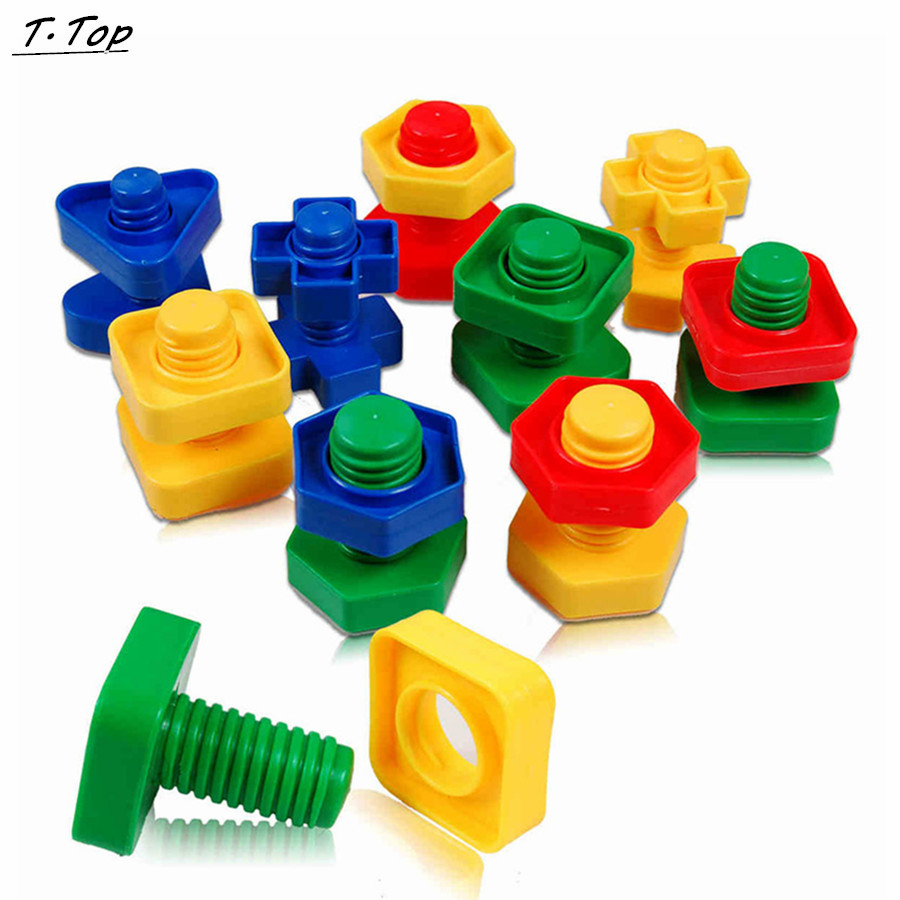 58pcs a set Colorful Screw Nuts Matching Toy Educational puzzle Baby Gift Finger Exercises Funny Toy(China (Mainland))