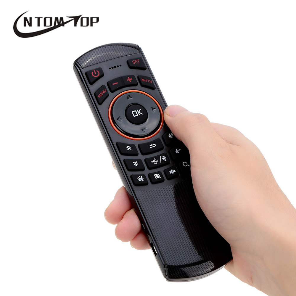 2.4G 6 Axial Gyroscope 3D Motion Mini Fly Air Mouse Wireless Keyboard Remote Control with Mic for Android TV Box HTPC PC Laptop(China (Mainland))