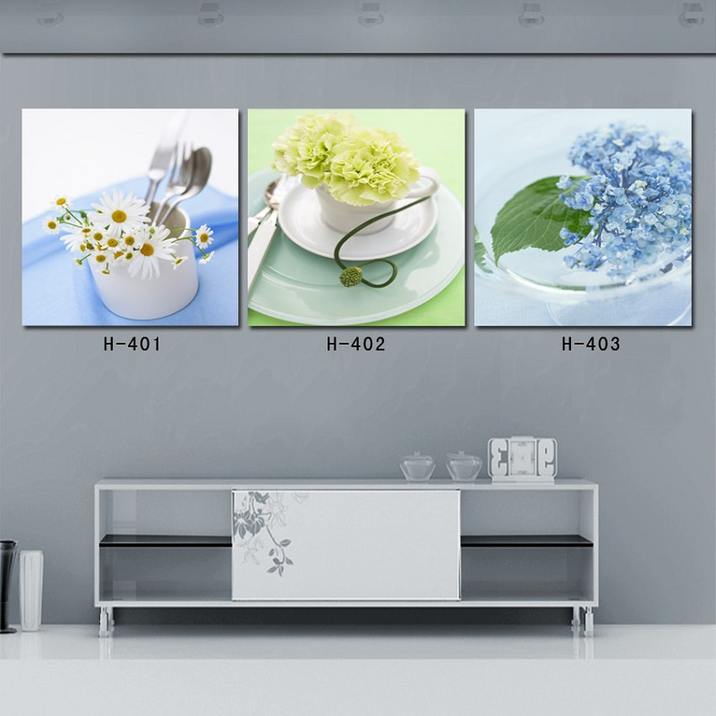 Buy 3 piece canvas wall art painting for Kitchen and dining room wall decor