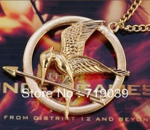 (can mix color)Hot Free Shipping Wholesale 20pcs/lot Hunger games Laugh at the bird pendant necklace original factory supply(China (Mainland))