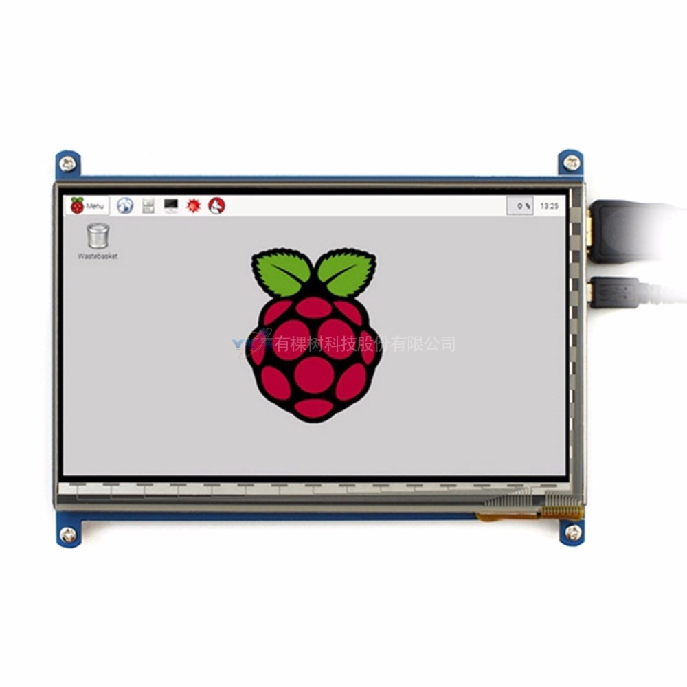 Rev2.1 Original 7 Inch HDMI LCD Screen Module capacitive touch for Raspberry Display Ultra Clear For Raspberry Pie 1024X600(China (Mainland))