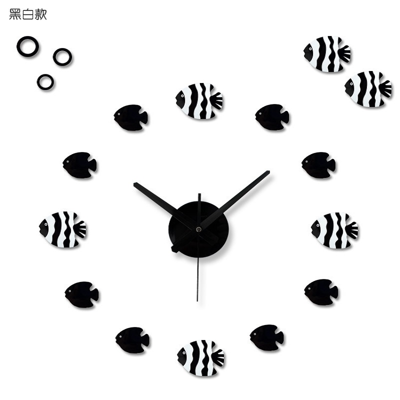 Relojes de cocina pared vintage wall sticker clock wanduhr watch pared orolog - Horloge murale vintage ...