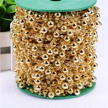 5 Meters Fishing Line Artificial ABS Pearl Beads Chain Garland Wedding Party Decor Cloth Hair Accessories gold silver