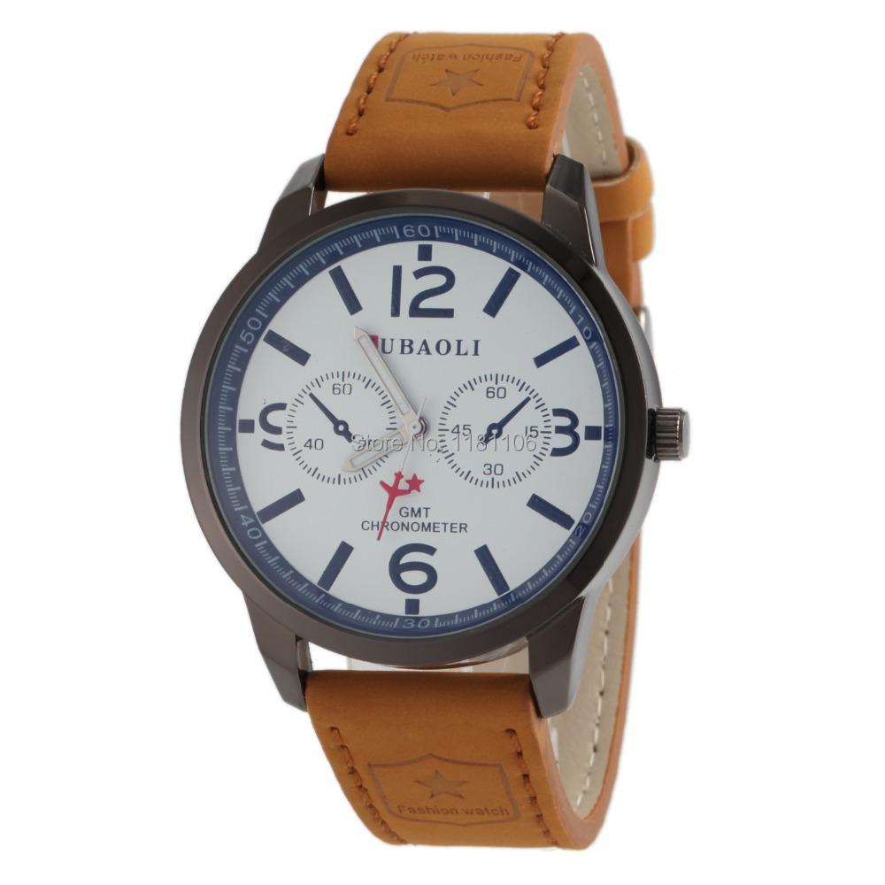2014 new (jubaoli) leisure fashion mens watch real leather belt aircraft military men quartz - 13413630 store