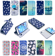 1PCS Flower Pineapple Elephants Fashion Flip Wallet Stand Cover Cases For Samsung Galaxy S4 SIV i9500 Luxury PU Leather Case(China (Mainland))