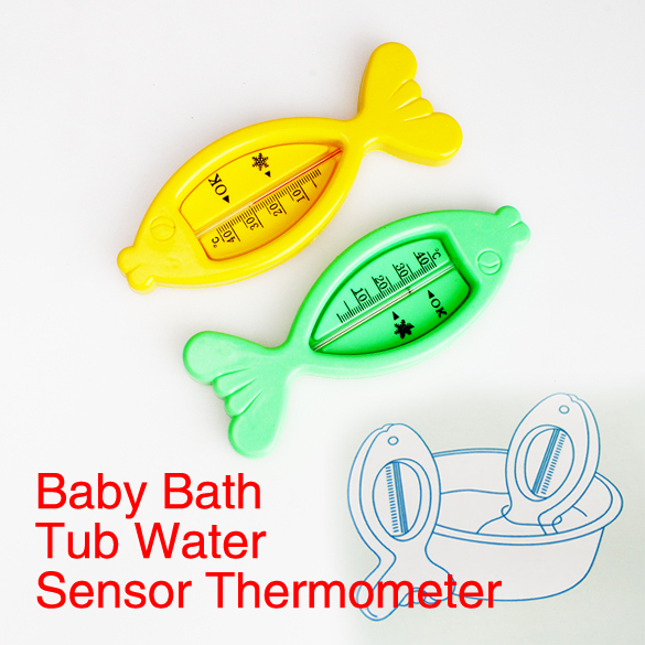 2014 Baby Floating Fish Lovely Plastic Float Toy Baby Bath Tub Water Sensor Thermometer E1IT(China (Mainland))