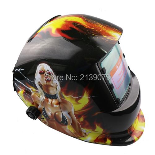 High Quality Girl Solar Auto-Darkening Welding Mask/Helmet/ Lens MIG/MAG/TIG/SMAW/Plasma or Carbon ARC Grinding UV/IR Protective(China (Mainland))