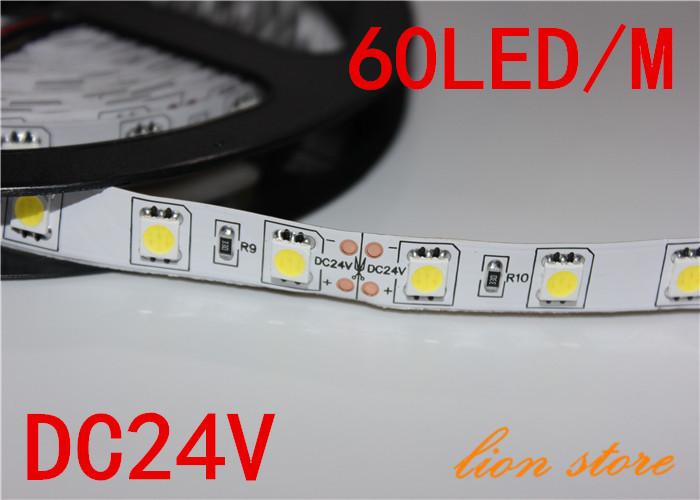 Гаджет  LED strip 5050 SMD 24V flexible light 60LED/m,5m 300LED,White,warm White ,cold white Blue,Green,Red,Yellow None Свет и освещение