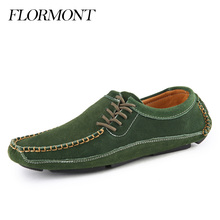 Spring Autumn Men's Casual Shoes Men Flats Suede Leather Slip-On Male Loafers Driving Shoes Man Summer Tods Moccasin Men Shoes(China (Mainland))