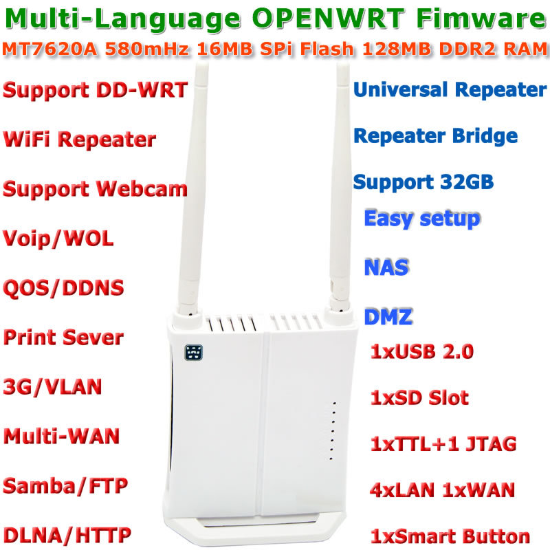 Mini OPENWRT Firmware 300Mbps WiFi Router Wi-Fi Wireless Router WiFi Repeater Roteador with USB Port/3G/Print Server/VLAN/VOIP(China (Mainland))