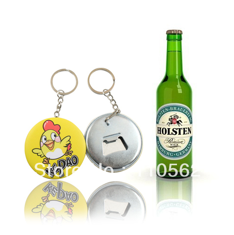 free shipping customized bottle opener buttons with keychain holder in badges from home. Black Bedroom Furniture Sets. Home Design Ideas