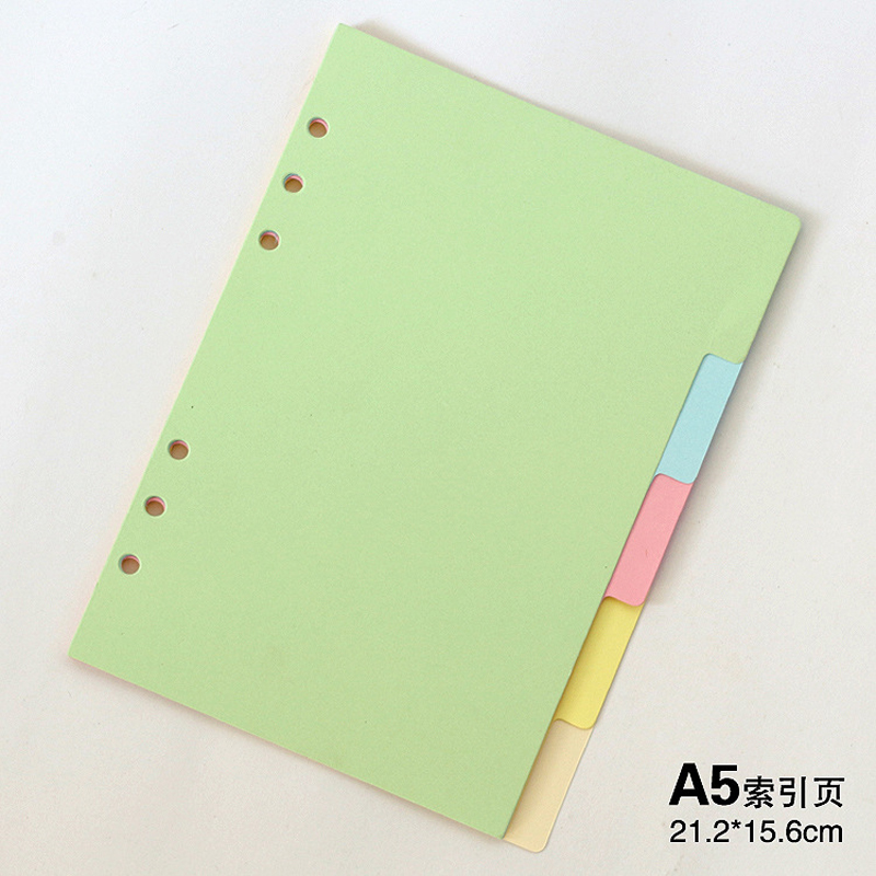 Original classic spiral notebook divider, Cute fine organizer planner seperator pages Office school stationery index paper A5 A6(China (Mainland))