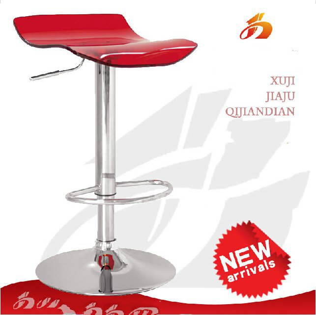Fashion acrylic bar chair, bar stool swivel chair lifts the front desk chair XJ121 Free shipping(China (Mainland))