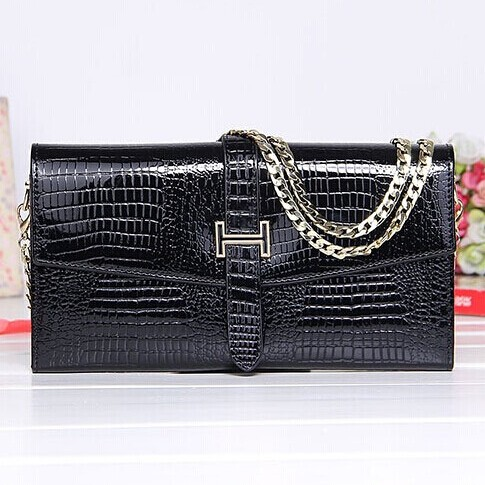 Korea style women Luxury alligator handbag crocodile 100% Genuine Leather day clutch cowhide evening clutch shoulder crossbody(China (Mainland))