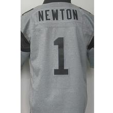 hot sale 1# Cam Newton High quality #59 Luke Kuechly 100% Stitched Logos Gray Gridiron Gray Limited Free shipping(China (Mainland))