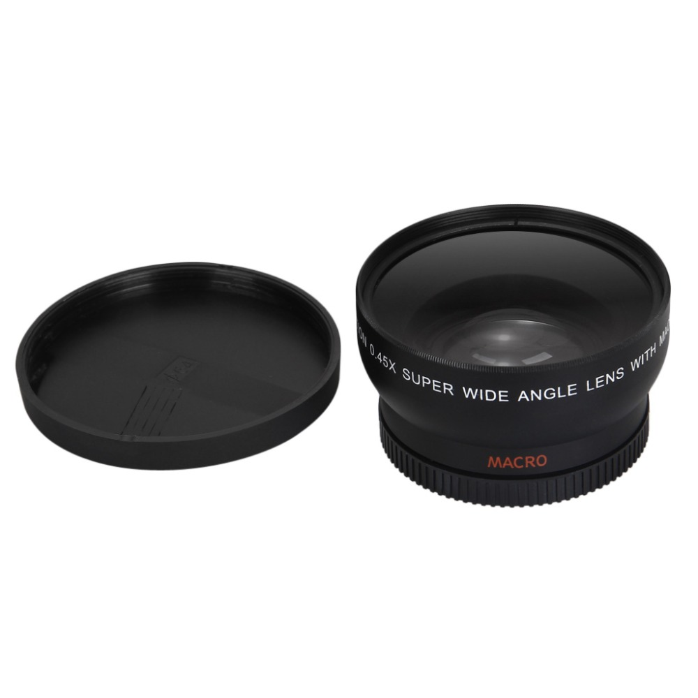 52MM 0.45x WIDE ANGLE LENS with Macro Lens for Nikon D5000 D5100 D3100 D3200 LF36 AF-S 18-55 f/3.5-5.6 DSLR Camera(China (Mainland))