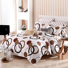 4PCS/Set 90% Cotton Bedding Set Pigment Printing Duvet Cover And Bed Cover Brief Comforter King Size And Queen Size Bed Linen(China (Mainland))