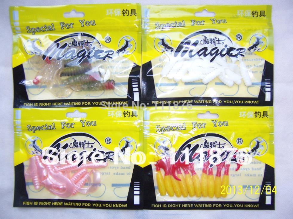 Lot 34+pcs Small Grub Estuary Soft Plastics lures fishing baits soft tackle 100 - IMKEA Home Decoration's store
