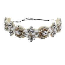 Handmade The bride hair bands glaring rhinestone National Bridal Hair headwear of bride hair accessories wholesale headbands(China (Mainland))