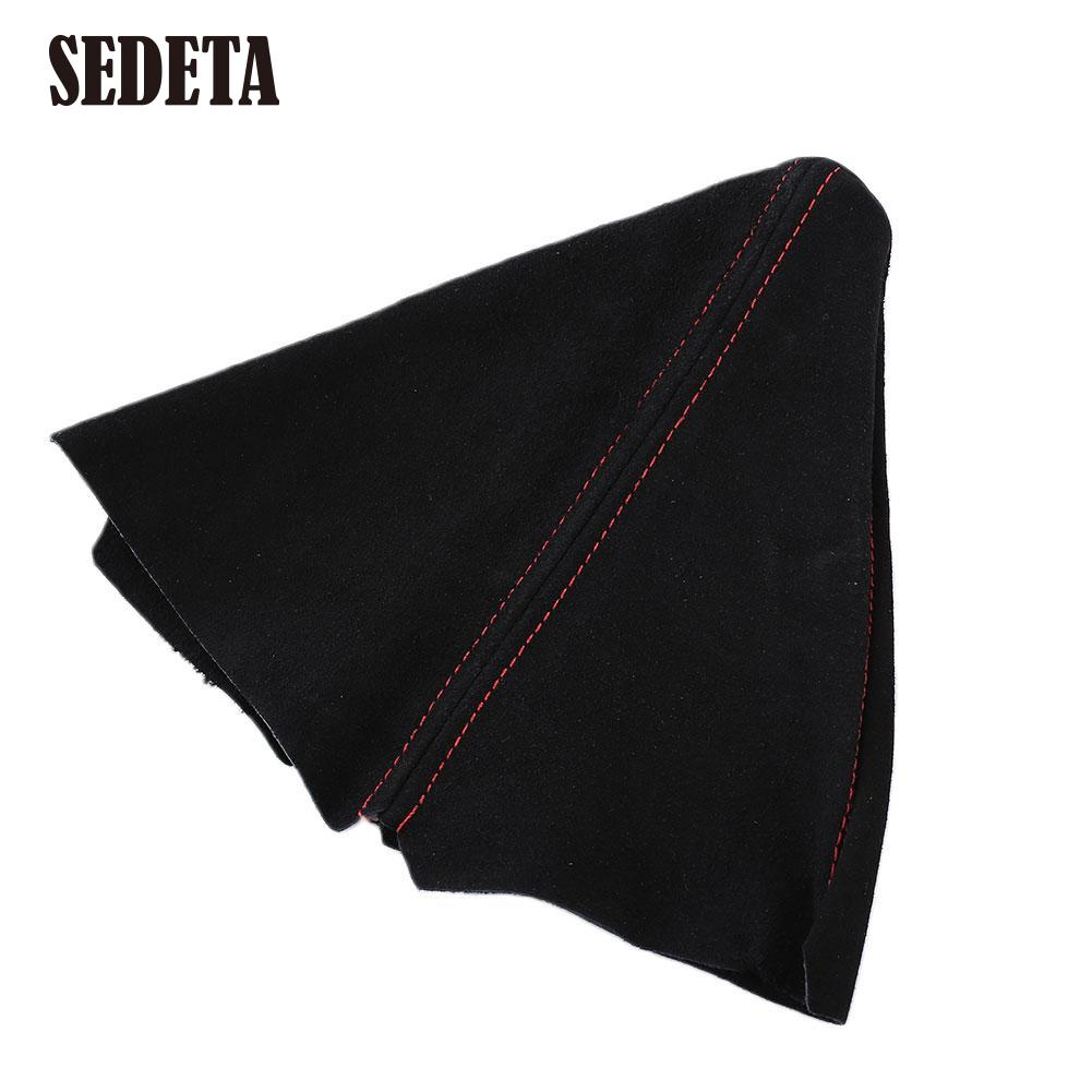 Universal Suede With Red Stitch Stitched Manual/Auto Truck Shift Boot Dust Cover Frosted Shifters Gear(China (Mainland))