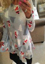 Heiße Frauen Casual Langarm Kleid Nette Weihnachten Schneemann Rentier Stiefel Santa Claus Kleid Lose Plus Größe Weibliche Kleid Vestidos(China)