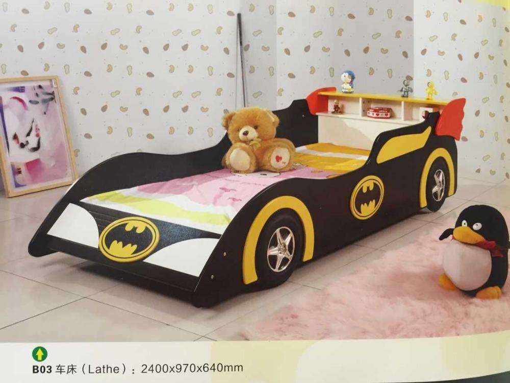 Top Quality Hot Sale Mdf Kids Race Car Bed Kids Lathe Bed