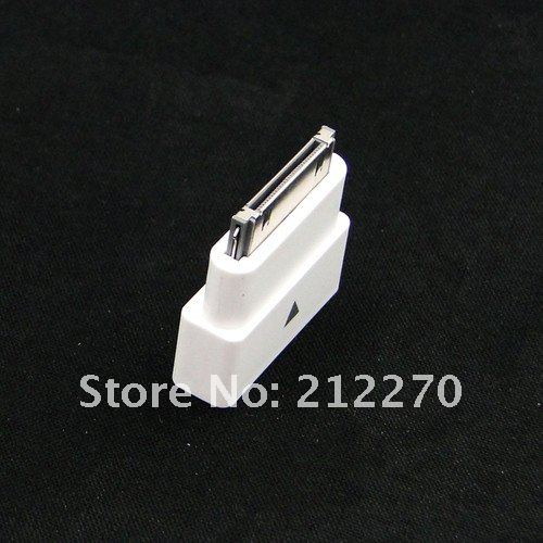 Wholesale 30pin M to F Dock Extender Extension Adapter for Apple iPhone 4 4S iPad 2 3 iPod(China (Mainland))