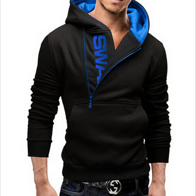 2015 New Style Men's Fashion Cardigan Napping Hoodies Popular Zipper Design Fleece Hoodie Jacket 5 colors Warm outwears(China (Mainland))