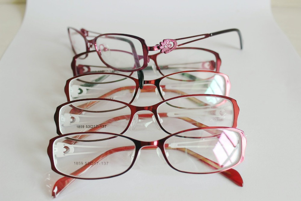 2015 New Arrival Free Shipping Fashion Design Women Men Good Quality Metal Optical Spectacle Eyeglasses Frame Stock Wholesale(China (Mainland))
