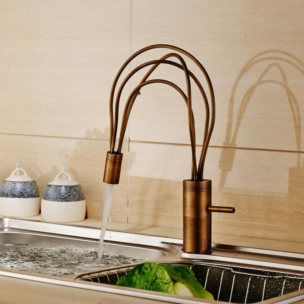 Elegant unique kitchen faucet HD9B13 - TjiHome