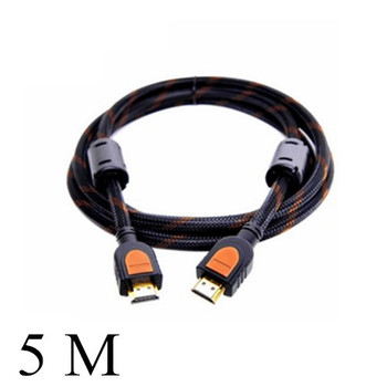 New 5M hdmi cable HD 1.4 1080P support 3D hdtv computer to tv line connecting adapter #8020