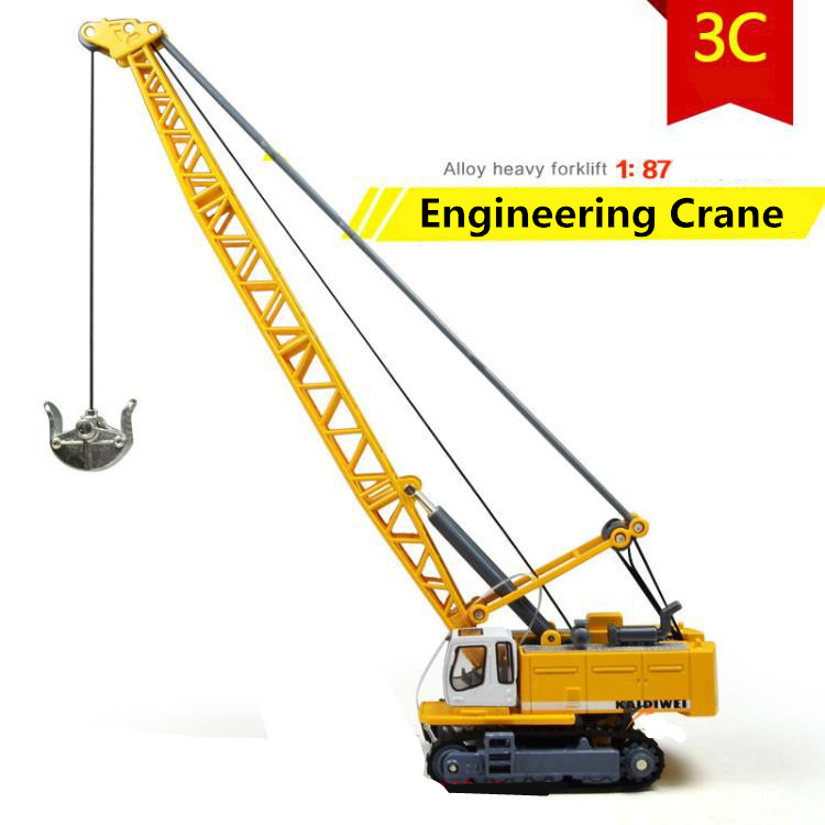 1:87 alloy model crane, crane engineering high simulation car toys, metal casting, educational toys, free shipping(China (Mainland))