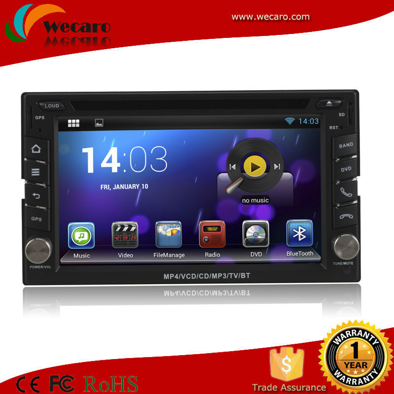 Android 6.2 Inch Double Din Universal In Dash Car Dvd Player 1.6GHz CPU Support DVR Audio Video Player Steering Wheel(China (Mainland))