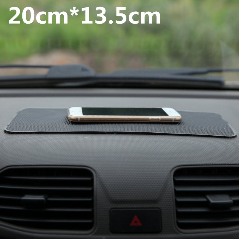 Universal Car Dashboard 20*13.5cm Magic Anti Slip Mat Non-slip Pad For Key Cell Phone Iphone Smart Mobile phone GPS Holders(China (Mainland))