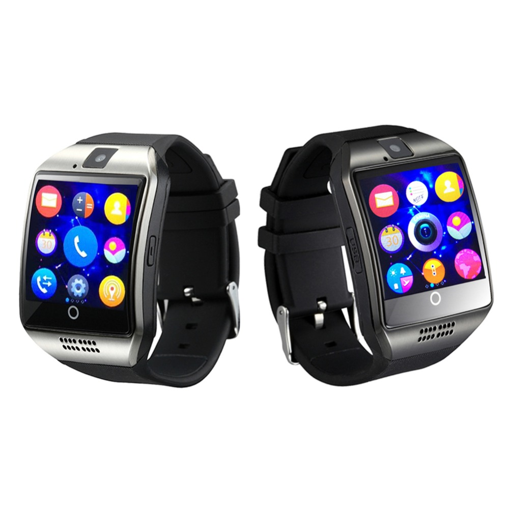 2016 New Smart Watch Q18 Smartwatch for android phone Mp3/Mp4 Facebook Twitter NFC Pedometer Camera Clock Smart Watch Android