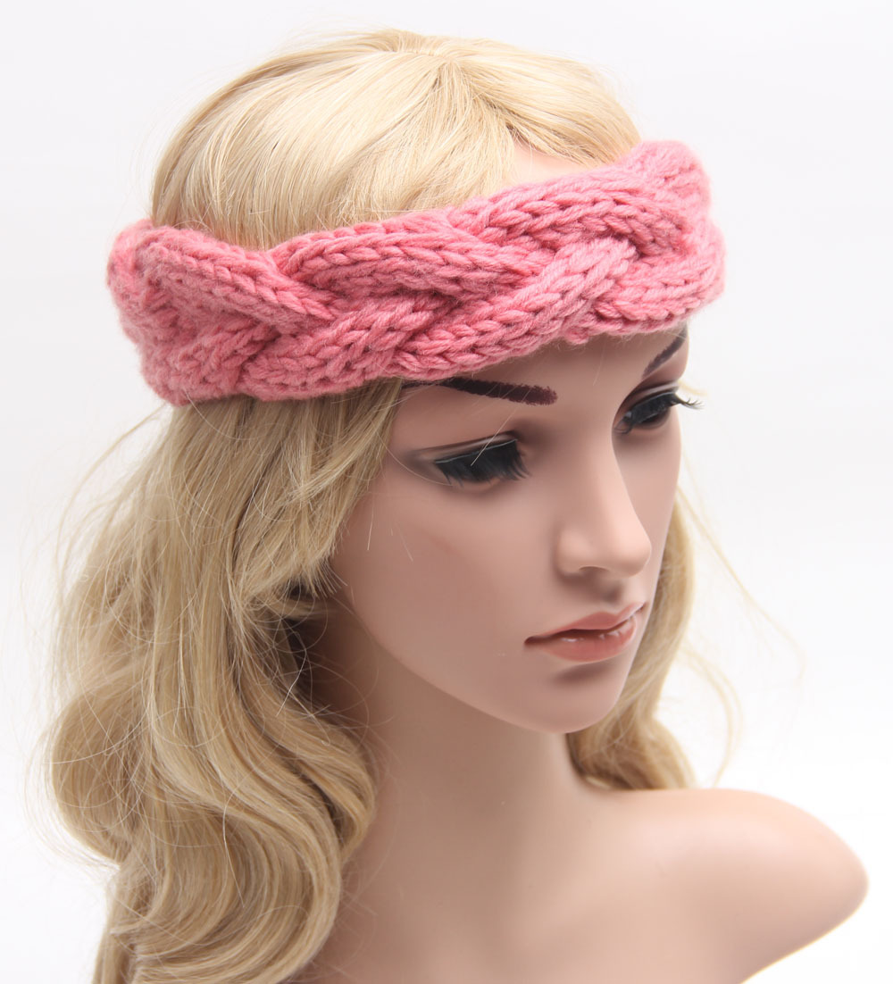 Braided Knitted Headband Knit Hair Band Turban Headband Knitted Ear Warmer Wo...