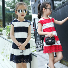 Buy Kids Striped Dresses Girls Cotton Short Sleeve Summer Dress Children Straight Casual Dress 4 6 8 10 12 Years School Vestidos for $12.06 in AliExpress store
