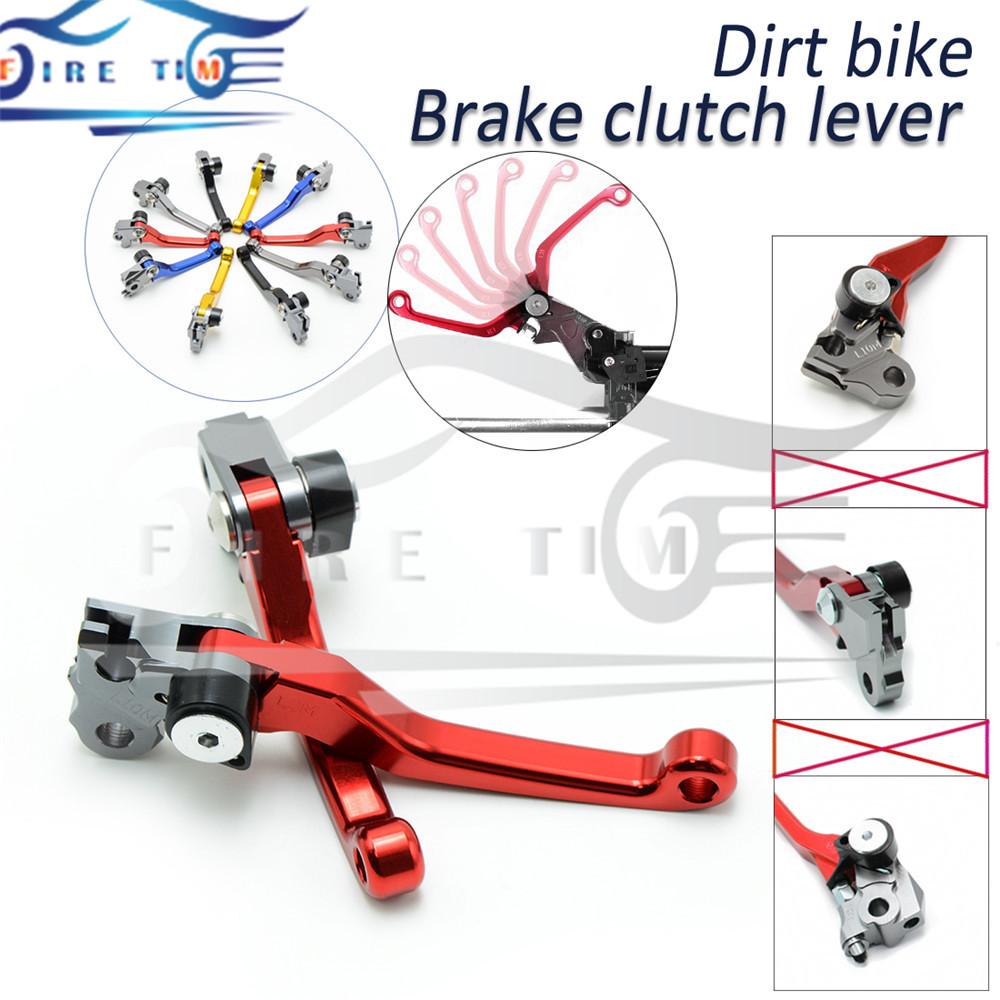 Foldable Motorbike Brake Clutch Levers Red Dirt Bike Cnc