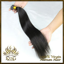 Top Quality Keratin Hair Extension 08-30inch 1g/pieces Natural  Straight Hair I Tip Hairextensions #1,#1B,#2,#4(China (Mainland))